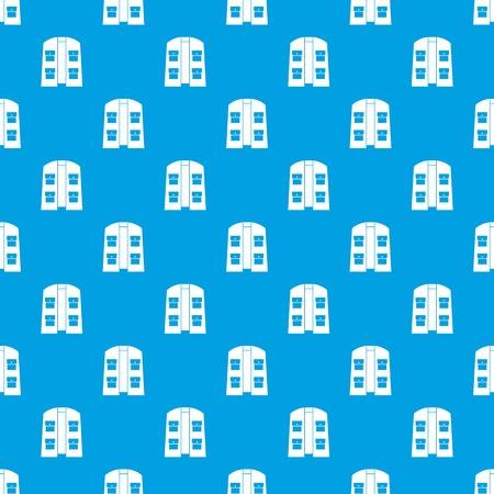 Hunter vest pattern seamless blue
