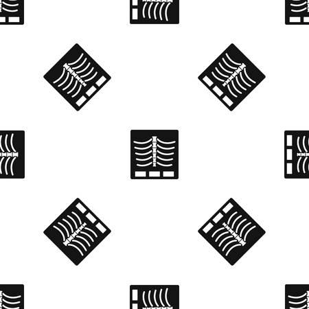 X ray photo pattern seamless black