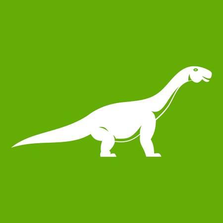 Titanosaurus dinosaur icon green Illustration