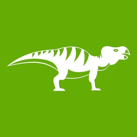 Hadrosaurid dinosaur icon green