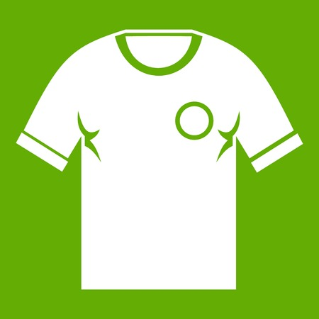 Soccer shirt icon green
