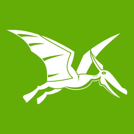 Pterosaurs dinosaur icon green Illustration