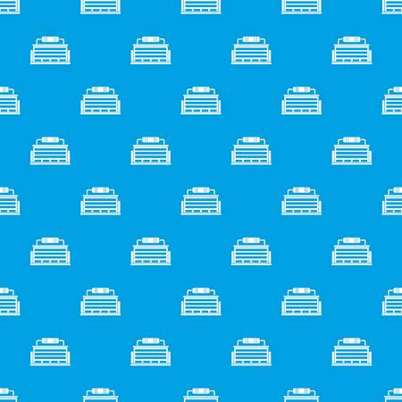 powerhouse: Plant pattern seamless blue