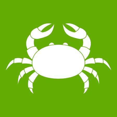 Raw crab icon green