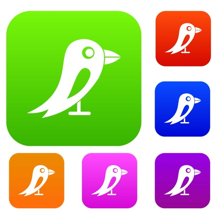 microblog: Social network bird in simple style isolated on white background vector illustration