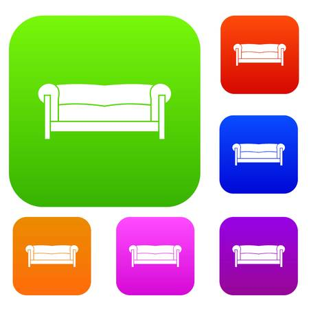furnish: Sofa in simple style isolated on white background vector illustration