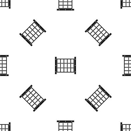 Het patroon van de werfomheining herhaalt naadloos in zwarte kleur voor om het even welk ontwerp. Vector geometrische illustratie