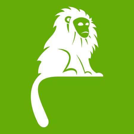 Hairy monkey icon green