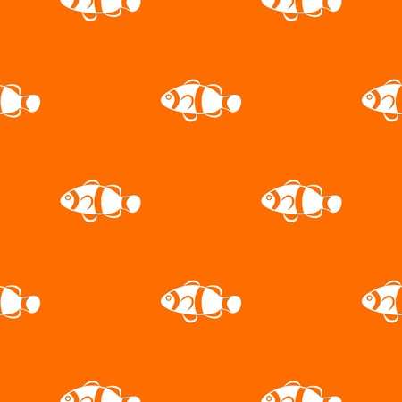 Cute clown fish pattern seamless