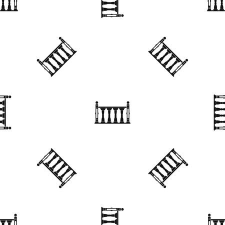 Balustrade patroon naadloos zwart Stockfoto - 84286517