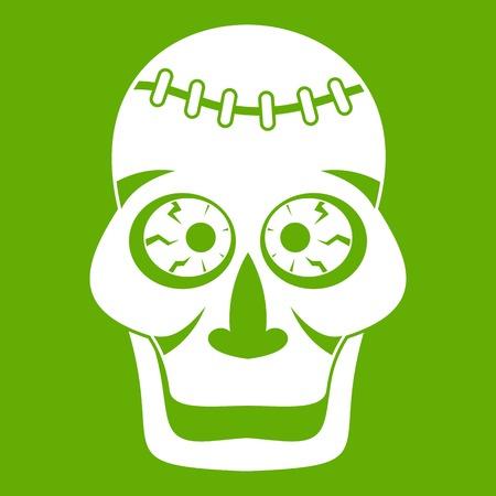 Skull icon green