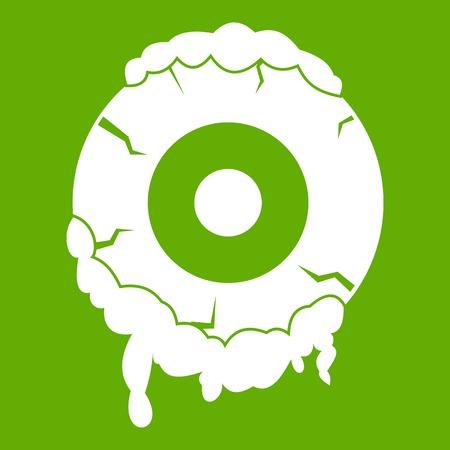 Scary eyeball icon green