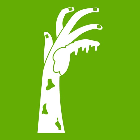 Zombie hand icon green