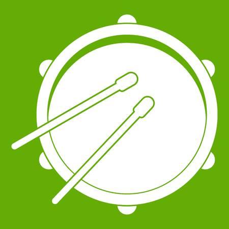 rhythm rhythmic: Drum icon green Illustration
