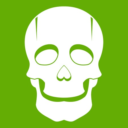 Singer mask icon green Illustration