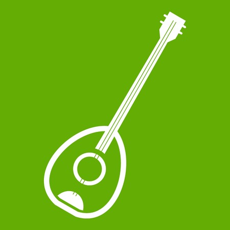 saz: Saz turkish music instrument icon green