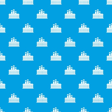 Oil refinery plant pattern seamless blue Stock Vector - 84361047
