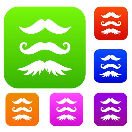 charlie: Moustaches set collection