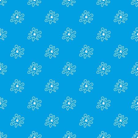Amoeba pattern seamless blue Illustration