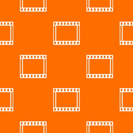 film industry: Film with frames movie pattern repeat seamless in orange color for any design. Vector geometric illustration
