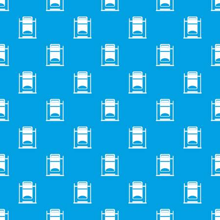 Swinging trash can pattern, blue
