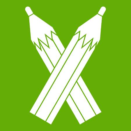 Pencils icon green