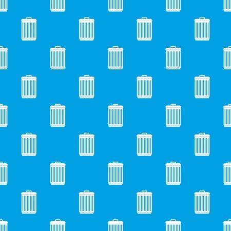 trashcan: Trashcan pattern seamless blue