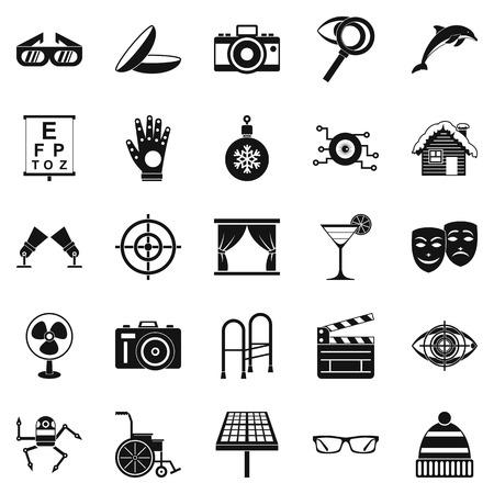 specs: Specs icons set, simple style