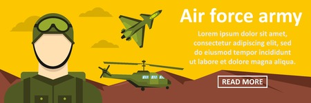 Air force army banner horizontal concept Illustration