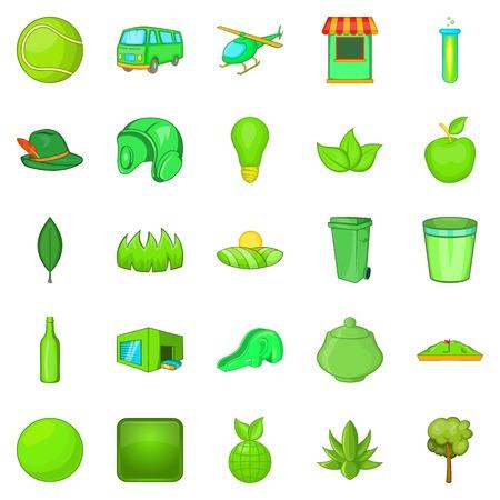 Plantation icons set, cartoon style