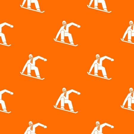 Snowboarder pattern seamless
