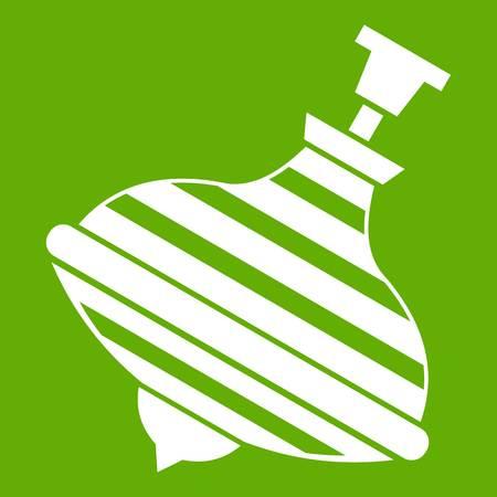 Carousel humming top icon green