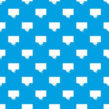 Vierkant bannerpatroon naadloos blauw