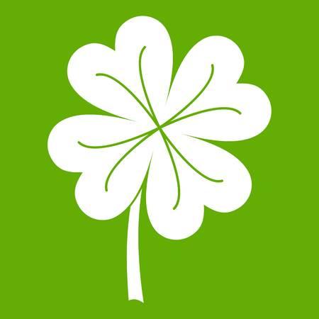 Clover leaf icon green Illustration