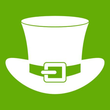 Top hat with buckle icon green