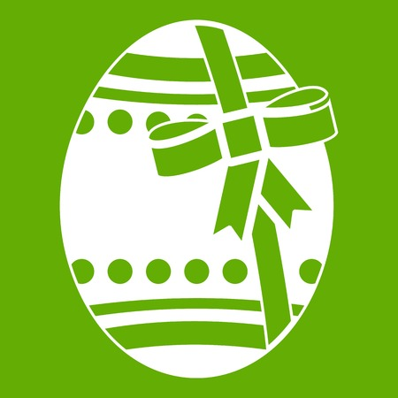 Big easter egg icon green