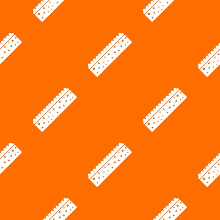 Sponge for cleaning pattern repeat seamless in orange color for any design. Vector geometric illustration Illustration