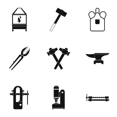 Blacksmith house icon set. Simple set of 9 blacksmith house vector icons for web isolated on white background