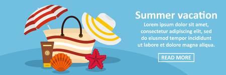 Summer vacation banner horizontal concept