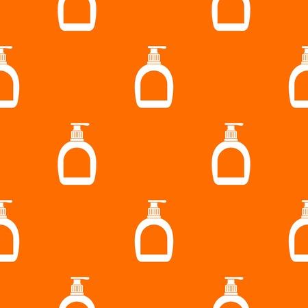 dishwashing liquid: Bottle with liquid soap pattern seamless Illustration