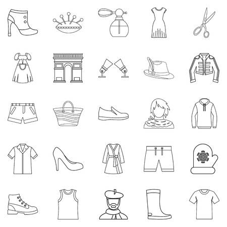 Underlinen icons set. Outline set of 25 underlinen vector icons for web isolated on white background
