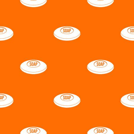 Soap pattern repeat seamless in orange color for any design. Vector geometric illustration