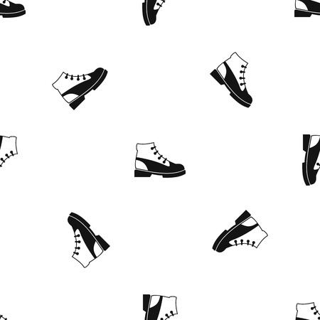 loafer: Men oxfords pattern repeat seamless in black color for any design. Vector geometric illustration Illustration