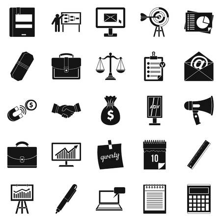 Gross product icons set. Simple set of 25 gross product vector icons for web isolated on white background Ilustração Vetorial