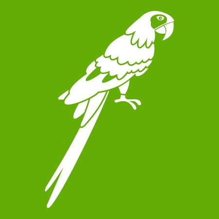 aviary: Brazilian parrot icon green Illustration