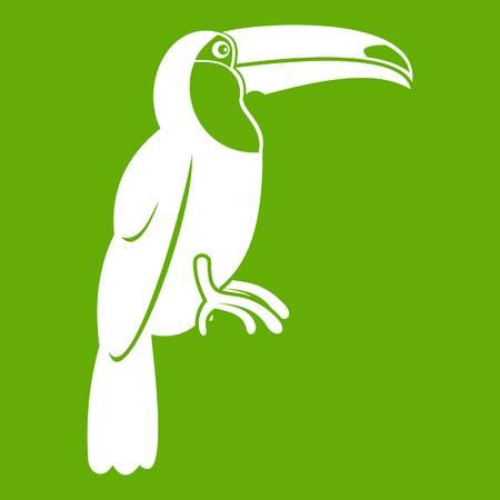 Brazilian toucan icon green