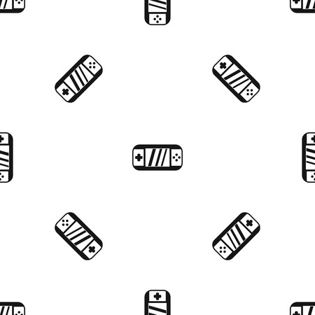 psp: Portable video game console pattern seamless black Illustration