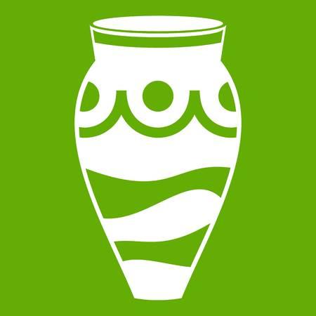 earthenware: Empty vase icon green Illustration