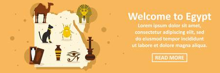 Welcome to egypt banner horizontal concept Illustration