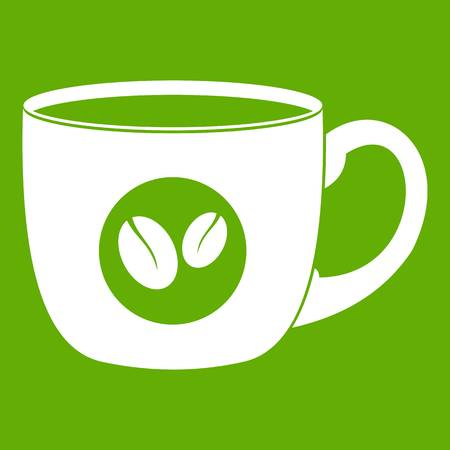 Cup of coffee icon green Illustration